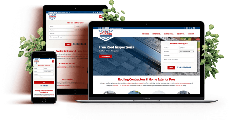 web design for roofers